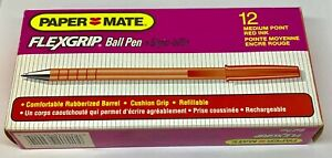 9620131 PaperMate Flexgrip Ultra Ballpoint Pen, Red Ink, Medium Tip, Box of 12