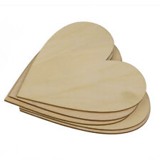 5x Wooden Wood Love Heart Pieces for Painting Craft Cardmaking Scrapbooking