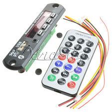 12V MP3 WMA Decoder Board Wireless Car Bluetooth USB TF FM Radio Audio Remote