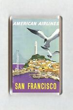 Vintage Air Travel Poster Fridge Magnet - San Francisco American Airlines (2)