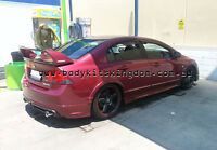Honda Civic FD1 fd2 type r rr style ABS plastic spoiler wing - mugen led bar gt