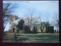 POSTCARD CUMBRIA CUMBRIAN CHURCHES - HOLME ST CUTHBERT