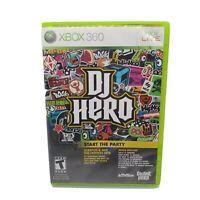 DJ Hero (Microsoft Xbox 360, 2009) Free Shipping