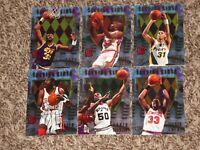 1995 Fleer Ultra Scoring Kings 6 Card Insert Lot 1995-96 Olajuwon Robinson Ewing