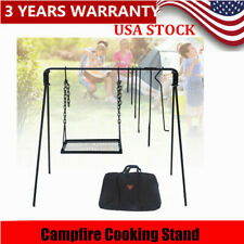 New listing Campfire Cooking Stand outdoor Bonfire Grill Stand for camping, picnic Equipment
