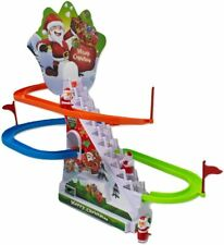 Christmas Decoration LED Merry Christmas Santa Race Ski Slope Game