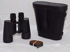 Zeiss 7x50 U.S. Navy Mark XXXV Model 1 binoculars, Leather case. Exc. cond.