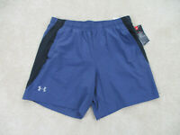 NEW Under Armour Shorts Adult Extra Large Blue Black Gym Athletic Mens $35