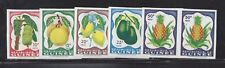 GUINEA 175-79 MNH BANANAS, LEMONS, PINEAPPLE, AVOCADO, GRAPEFRUIT *IMPERF PAIRS*