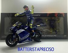 MINICHAMPS VALENTINO ROSSI 1/12 SET YAMAHA + FIGURE 2005 WINNER GP DONINGTON NEW