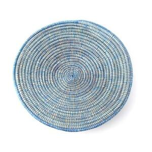 Hand Woven Fruit Bowl Home Decor From Senegal - Approx. 28cm   Assorted Colours