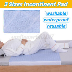 Washable Reusable Waterproof Underpad Bed Pad Incontinence Mattress Protectors #