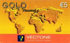 3464 SCHEDA TELEFONICA INTERNAZIONALE USATA VECTONE GOLD 5 25/12/2005