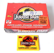 Lot of (33) 1992 Topps Jurassic Park Series 2 Packs Sealed In Display Box
