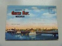 Green Bay souvenir vintage postcard fold out folder Wisconsin