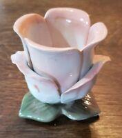 Vintage Bloom-Rite Planter pink white Flower Shaped Porcelain 1997 ceramic