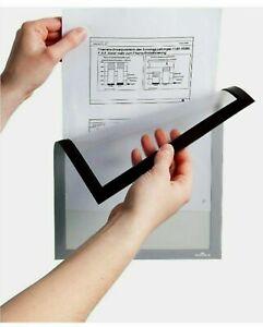 Durable DURAFRAME Self-Adhesive Magnetic Display Frame A4 in Black Pack of 40