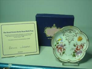 1988 Royal Crown Derby BIRTH OF PRINCESS BEATRICE OF YORK Five Petal Dish