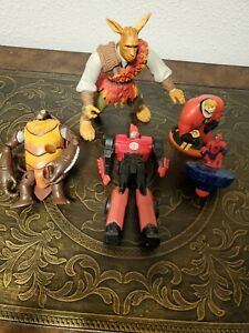 5 Pc Miscellaneous Toy Action Figure Lot TMNT Incredibles Spiderman Transformers
