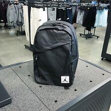 NWT New Jordan 8A0002-023 Crossover Backpack Laptop School Book Bag Black Medium