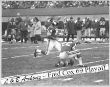 FRED COX Vikings 69 Playoff Gm Photo Paul Krause Rams