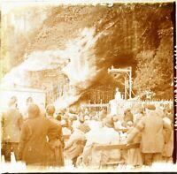 FRANCE Lourdes, Photo Stereo Vintage Plaque Verre VR6L5