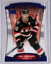 ERIK KARLSSON 15/16 Upper Deck Contours Blue Sapphire Parallel #/499 SP Card #74