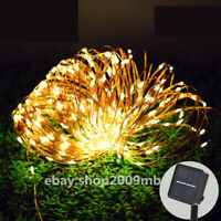 100 LED Strip Light Garden Copper Wire Light String Fairy Outdoor Solar Powered