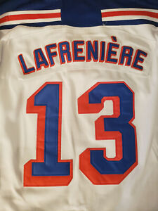 ALEXIS LAFRENIERE #13 NEW YORK RANGERS JERSEY - YOUTH LARGE