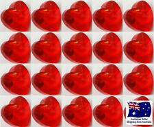 Glass Heart Charm Bead - 10mm 20pcs - Light Red