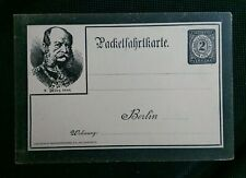 KAISER WILHELM 1 MARCH 1888 GERMAN BERLIN PRE PAID POSTCARD