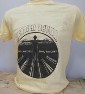 Warren Zevon T Shirt Lawyers Guns & Money 1970s Rock Music Jackson Browne T048