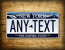 New York Personalized License Plate ANY TEXT Custom Customized Auto Tag NY State
