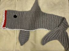 Grey Shark Blanket Snug In the mount of the shark