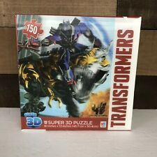 """TRANSFORMERS Super 3D Puzzle 18""""X12"""" 150 Piece - NIB, never opened free shipping"""
