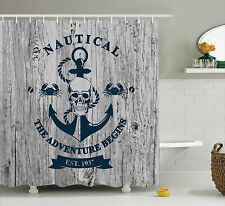 Anchor Skull Rope Quotes Nautical The Adventure Begins History Shower Curtain