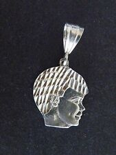 Sterling Silver CHILD'S HEAD Charm Pendant