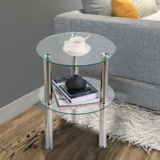 Buy Glass Modern Side End Tables With Flat Pack Ebay