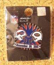 December 30, 2012 Buffalo Bills vs NY New York Jets pin NFL