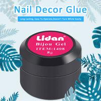 8g Nail Art UV Gel Glue for Rhinestone Jewelry Gems Decor Adhesive Manicure