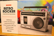 Ion Retro Rocker Cassette player Boombox Bluetooth Radio Speaker