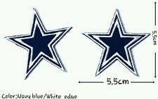 Dallas Cowboys Stars 2pcs NFL Sport Football patch Logo Embroidery iron ,Sew on