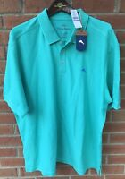 $90 TOMMY BAHAMA MENS THE EMFIELDER POLO JADE PIMA COTTON GOLF SHIRT XXL 2XL