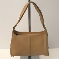 "CUOIERIA FIORENTINA Vintage Tan Leather Sm Tote ""D-Bag Style"" Rare Retail - $348"