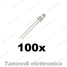 100 diodi LED ALTA LUMINOSITA' BIANCO 5mm 20000 mcd  spedizione gratuita