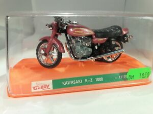 Guiloy Kawasaki KZ 1000 motorcycle diecast 1:24 scale made in Spain dark rose