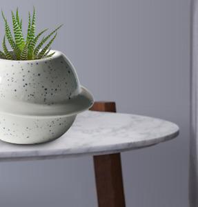 Ceramic Art Planet Small Flowerpot Succulent Pot Vase Desktop Planter for Hom
