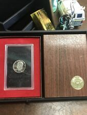 """1973-S Silver Proof Brown """"Ike"""" Eisenhower Dollar $1 US Mint Box Coin"""