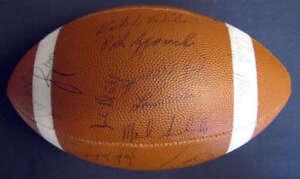 Jsa Coa 1963 Baltimore Colts Team Signed Football Johnny Unitas