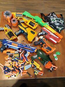 Nerf guns, Bullets, Discs, Vests, glasses bulk